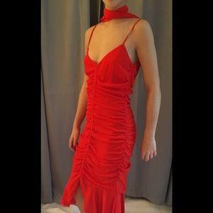 Rene Lezard silk cocktail dress